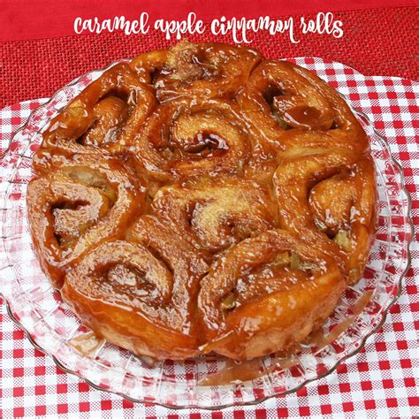 Caramel Apple Cinnamon Rolls - Recipes Food and Cooking