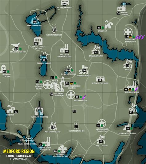 Medford Region Map Fallout 4 | game-maps