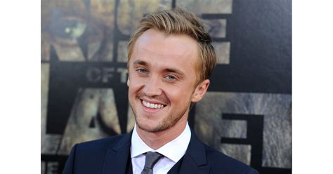 Tom Felton looked dapper in a suit and tie