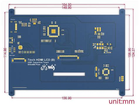 """7"""" 1024x600 HDMI Display for Raspberry Pi with Capacitive"""