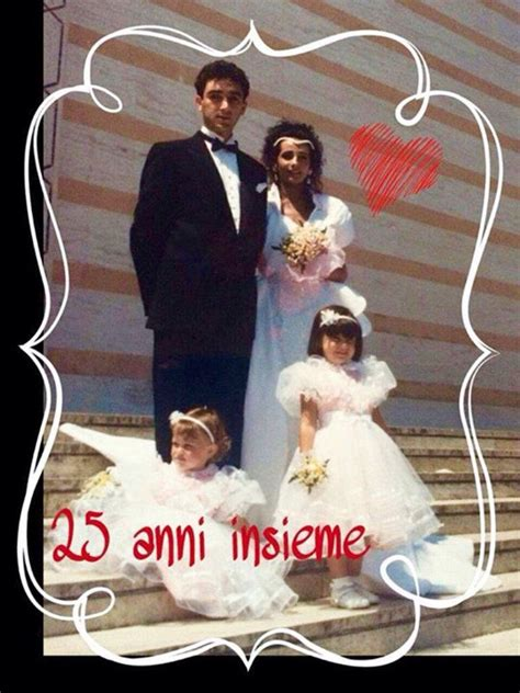Gianluca Ginoble's parents on their wedding day, Ercole