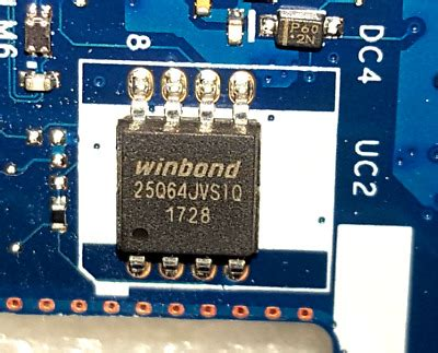 Bios chip for HP 250 G6 Notebook, New, no Password, for MB