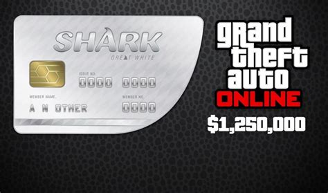 GTA 5 Online Great White Shark Cash Card 1,250,000 | PC
