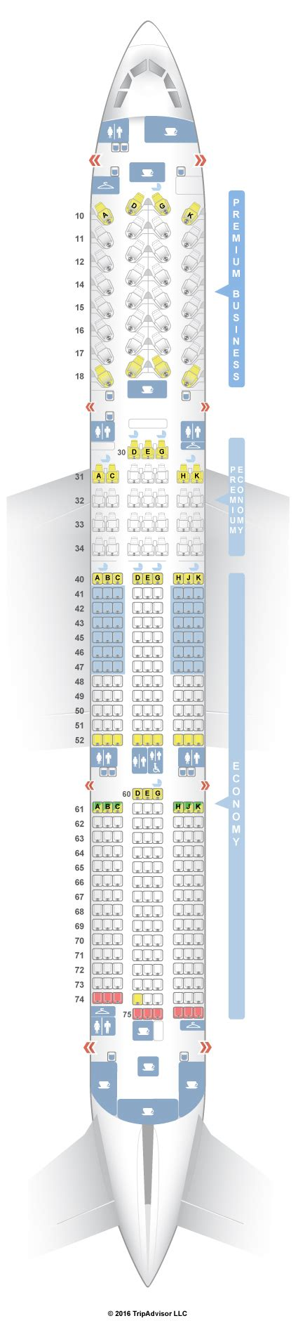 SeatGuru Seat Map China Airlines