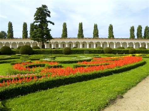 Colonnade In The Floral Garden Kromeriz Stock Photo
