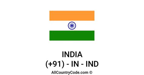 India 91 IN Country Code (IND) | All Country Code