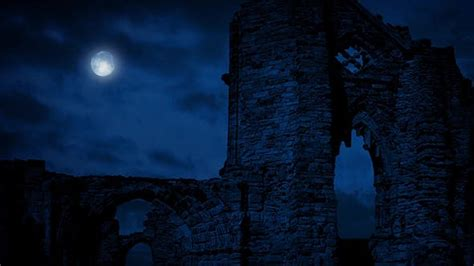 Arches Of Medieval Ruins At Night by RockfordMedia   VideoHive