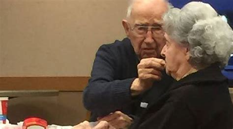 Elderly Man Hand-Feeds His Wife On 'Date Night' At Wendy's