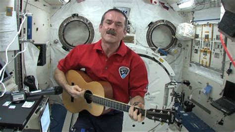 Hadfield belts out song from space for huge sing-along