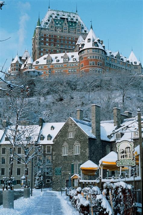 Winter in Quebec City Chteau Frontenac in the background