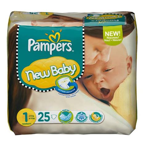 Pack 25 couches Pampers New Baby Taille 1 Newborn (2-5-kg