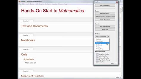 Hands-on Start to Mathematica: Presentations - YouTube