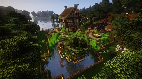 Minecraft, Video games, Farm, House, Forest, Oak trees