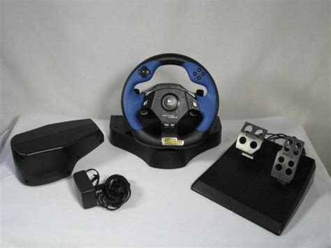 Ps2 Pc Volante Logitech Driving Force Feedback - R$ 300,00