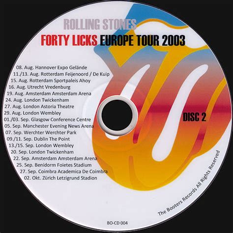 Booters Productions: BO CD 003 / 004 // The Rolling Stones