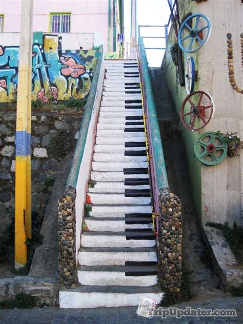 The Piano Stairs in Valparaiso, Chile - a wonderful