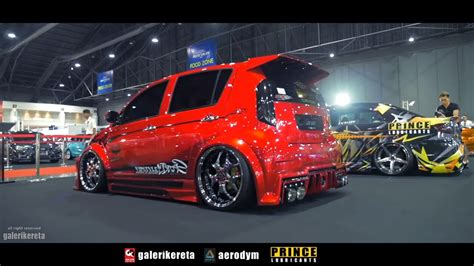 Myvi Batman Candy Red - Bangkok International Auto Salon