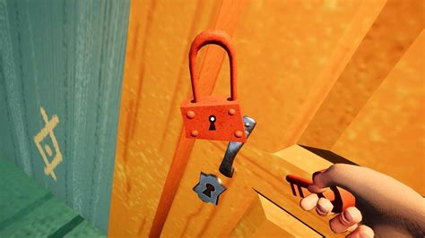 Hello Neighbor Alpha 4 - How to use RED KEY + RED MINIGAME