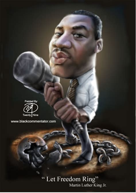 """The Black Commentator - Cartoon: Martin Luther King - """"Let"""