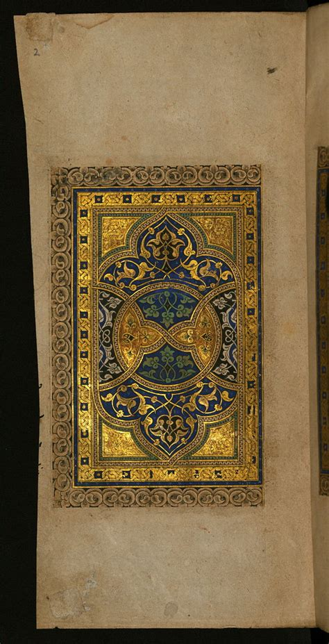 Illuminated Manuscript, The left side of a double-page ill