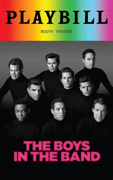 The Boys In The Band - June 2018 Playbill with Rainbow