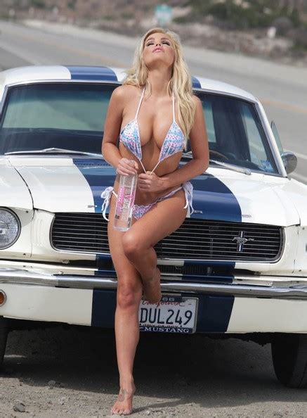 Colleen Shannon Shows Her Bikini Body Next to a 1966 Ford