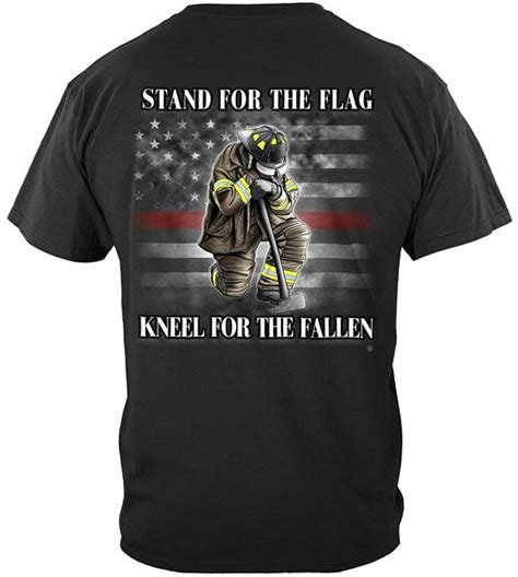 Thin Red Line Stand For The Flag, Kneel For The Fallen