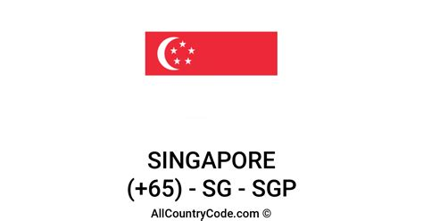 Singapore 65 SG Country Code (SGP) | All Country Code