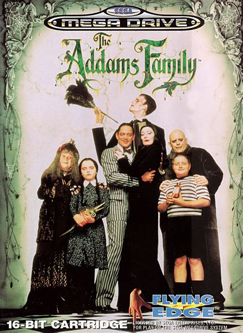 The Addams Family (1993) Genesis box cover art - MobyGames